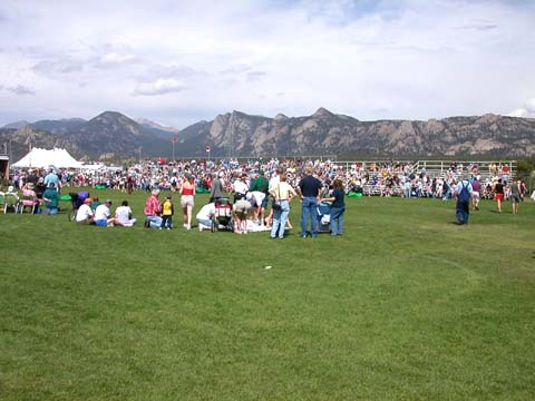 View of the festival
